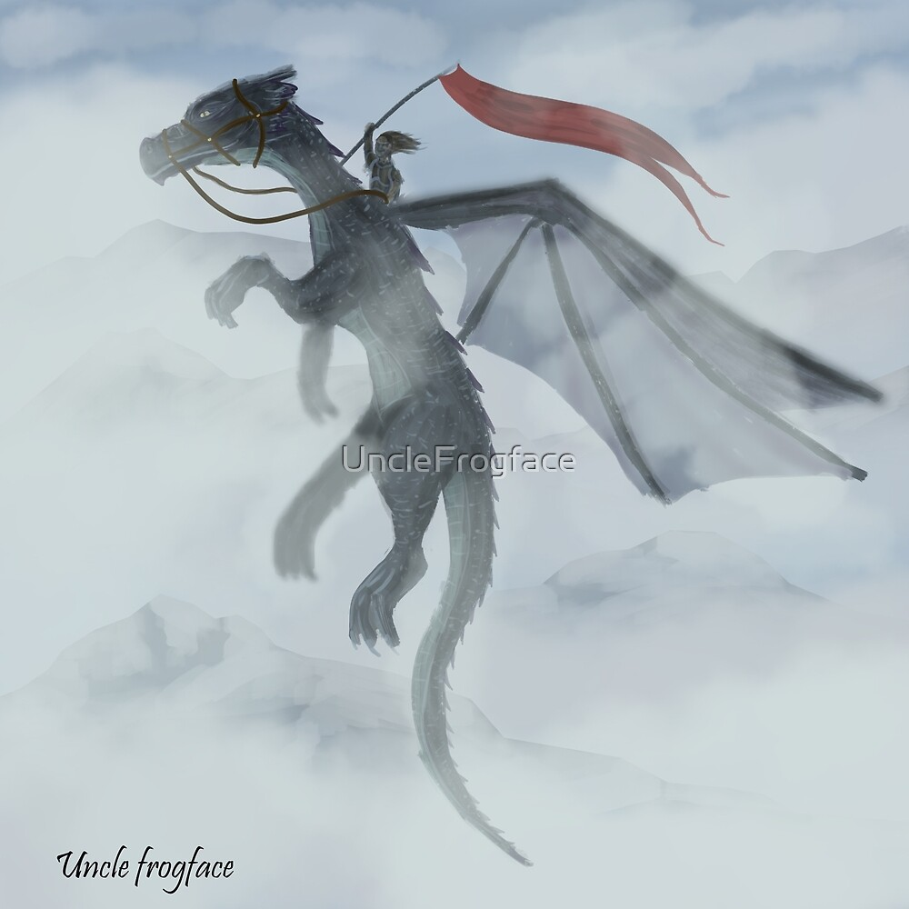 Dragon Rider by UncleFrogface