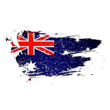 Vintage Australian Flag by mjmmrsgn