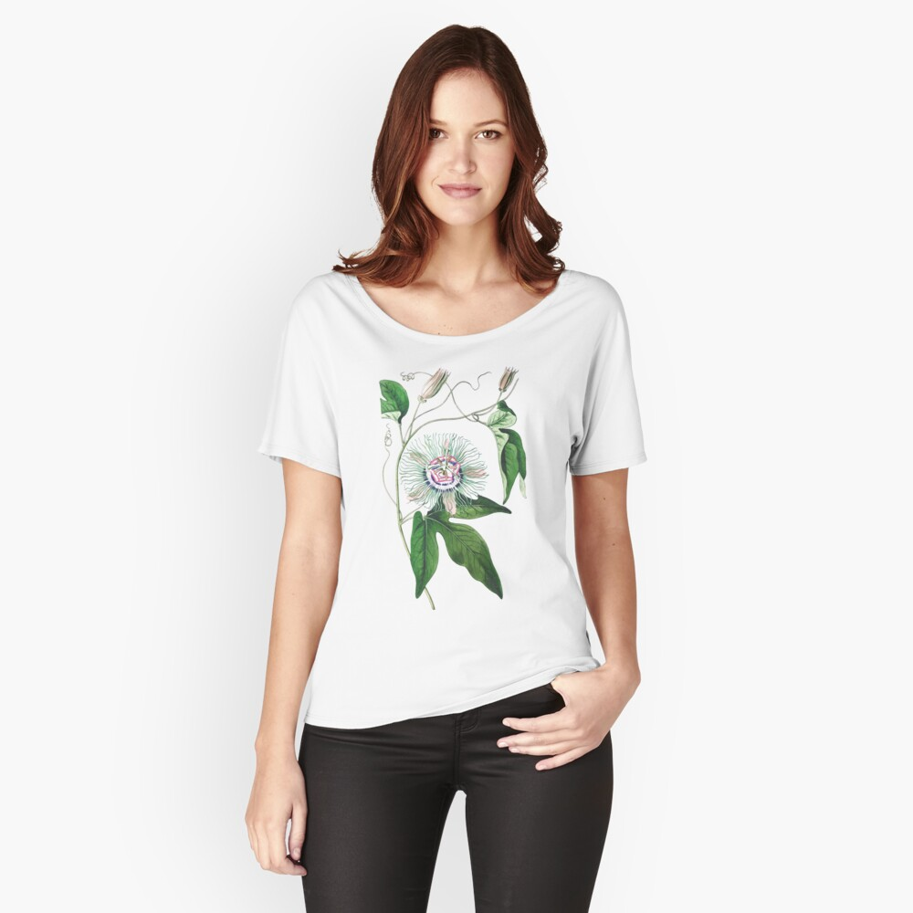 Passion Fruit Flower - Vintage Illustration Women's Relaxed Fit T-Shirt Front
