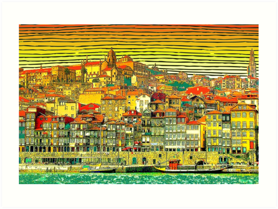 HD. Porto city , Portugal - Colorfull amazing HIGH DEFINITION design by mindthecherry
