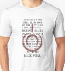 Fate Stay Night Unlimited Blade Works Archer And Shirou Quote With Command Seal Slim Fit T-Shirt