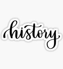 History - Folder/Binder Sticker Sticker