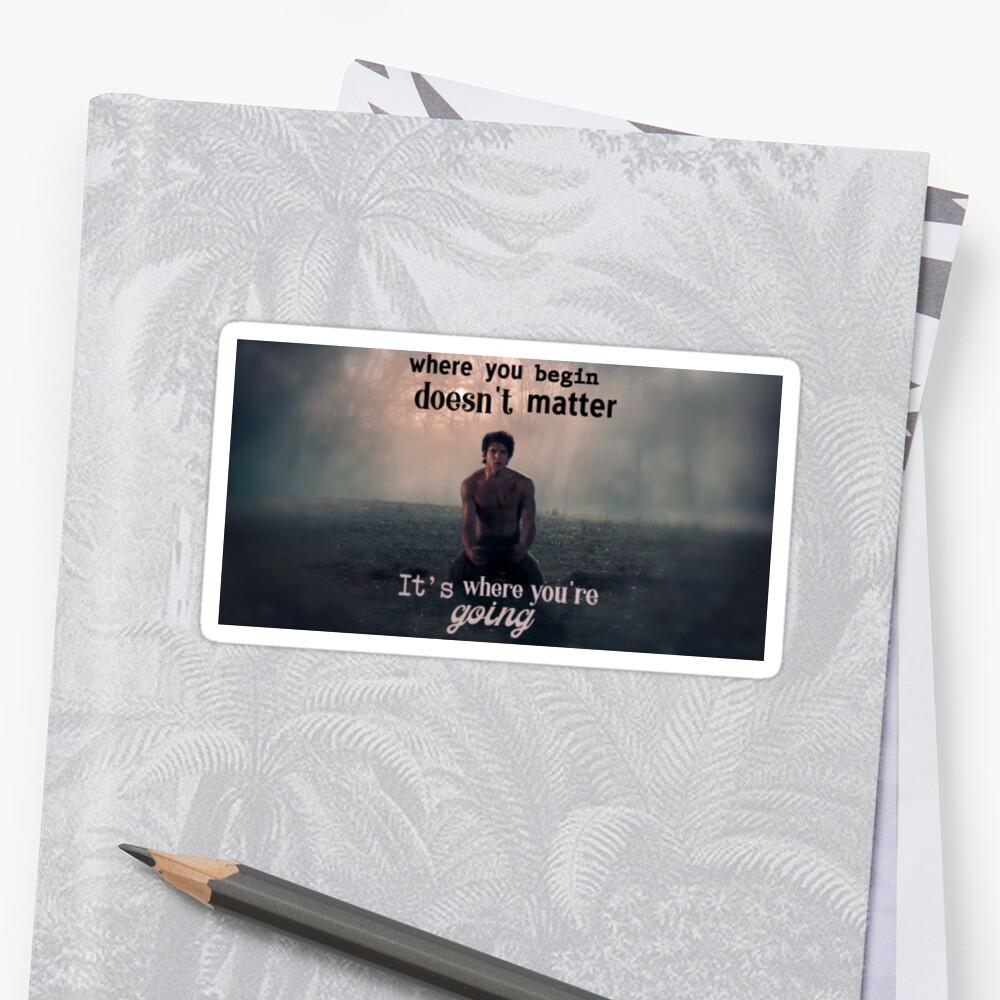 Teen Wolf - Scott's Beginning Sticker Front
