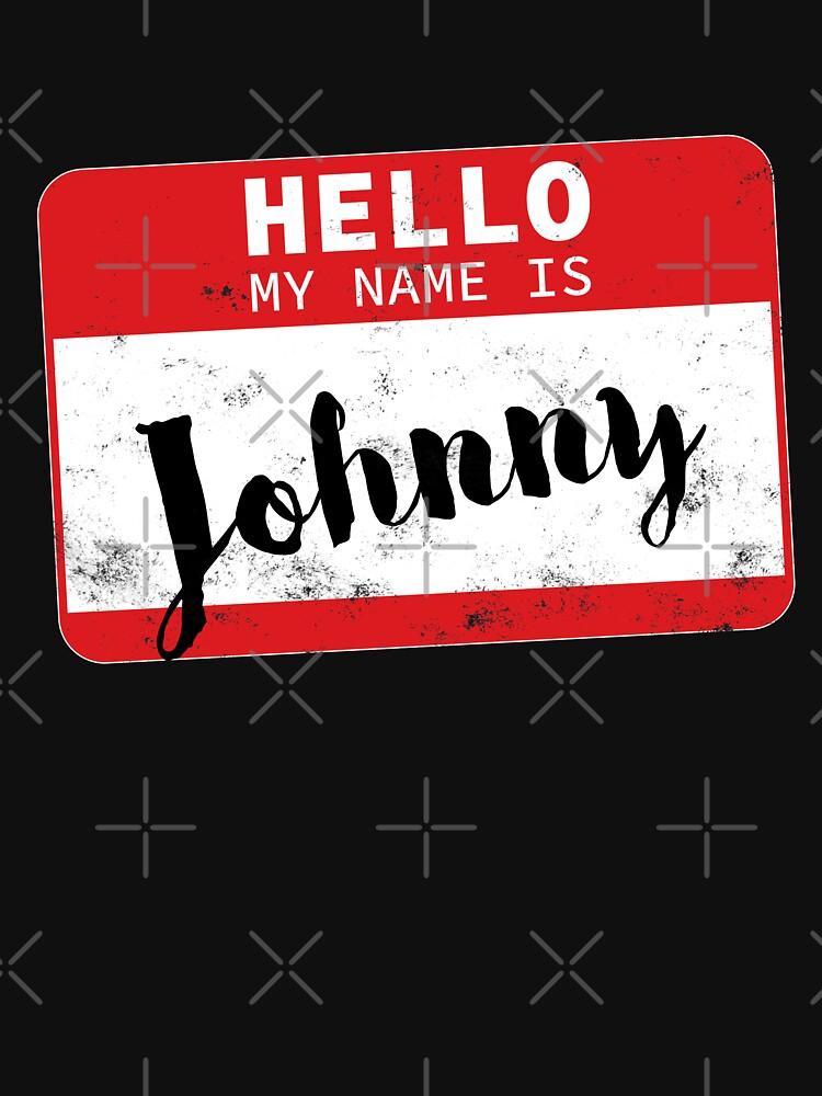 Hello My Name Is Johnny Name Tag by efomylod