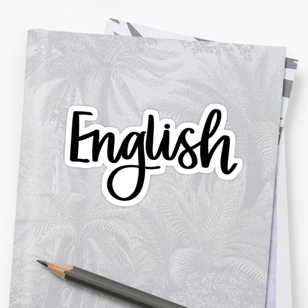 English - Folder/Binder Sticker  by RT-Lettering