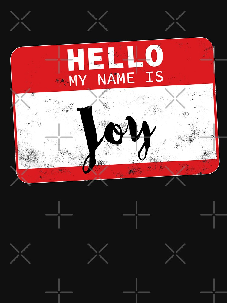 Hello My Name Is Joy Name Tag by efomylod