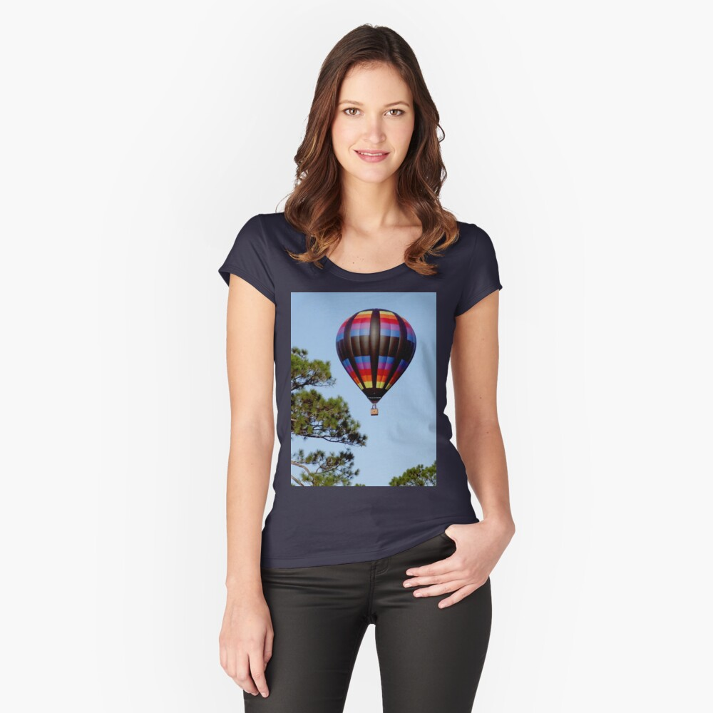 Hot Air Balloon Women's Fitted Scoop T-Shirt Front
