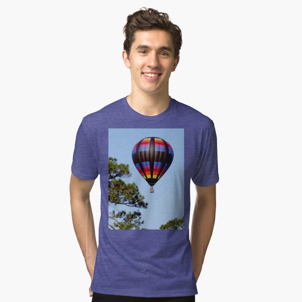 Hot Air Balloon Tri-blend T-Shirt Front