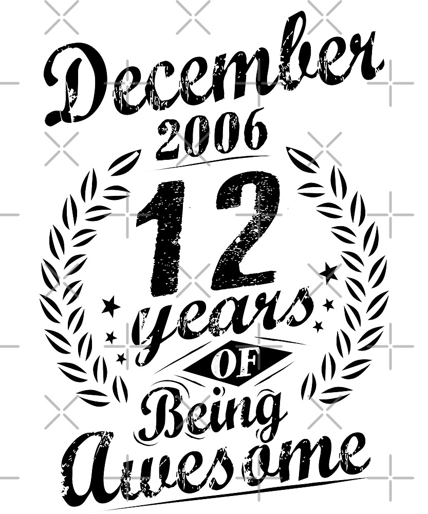 December 2006 12 Years of Being Awesome 12th Birthday by SpecialtyGifts