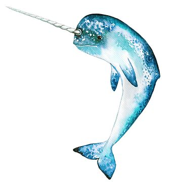 Narwhal, Cyan by ThistleandFox