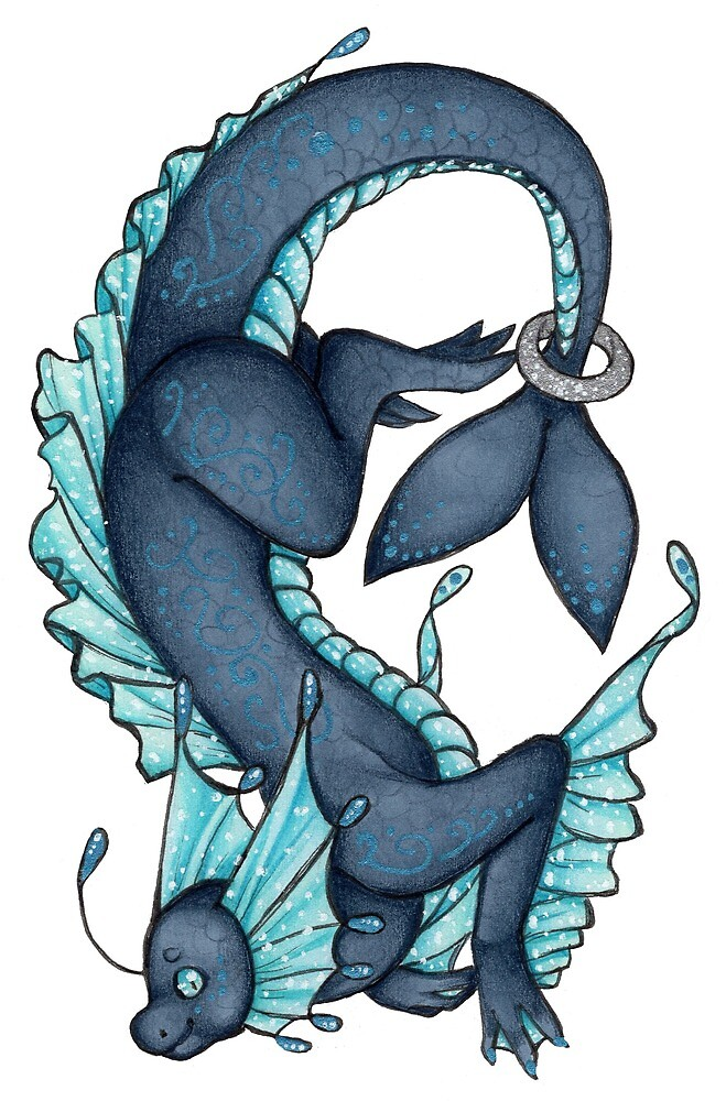 Blue Water Dragon by Dragons-Art