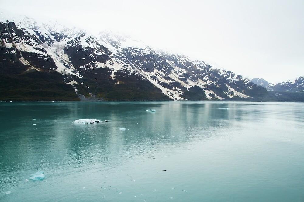 Alaska Hubbard Glacier Snowy Mountains by KateLCardsNMore
