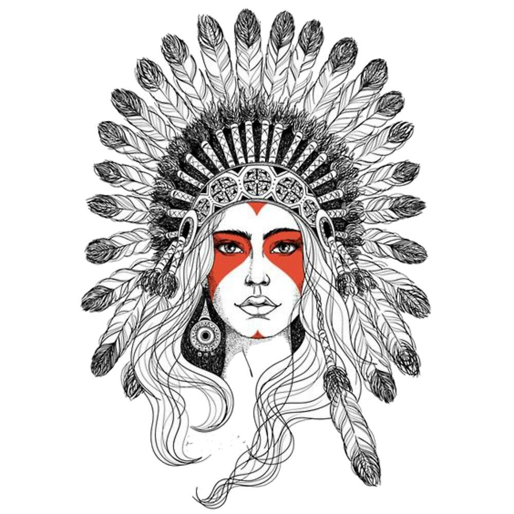 indian headdress t shirt by Thiago Barbosa
