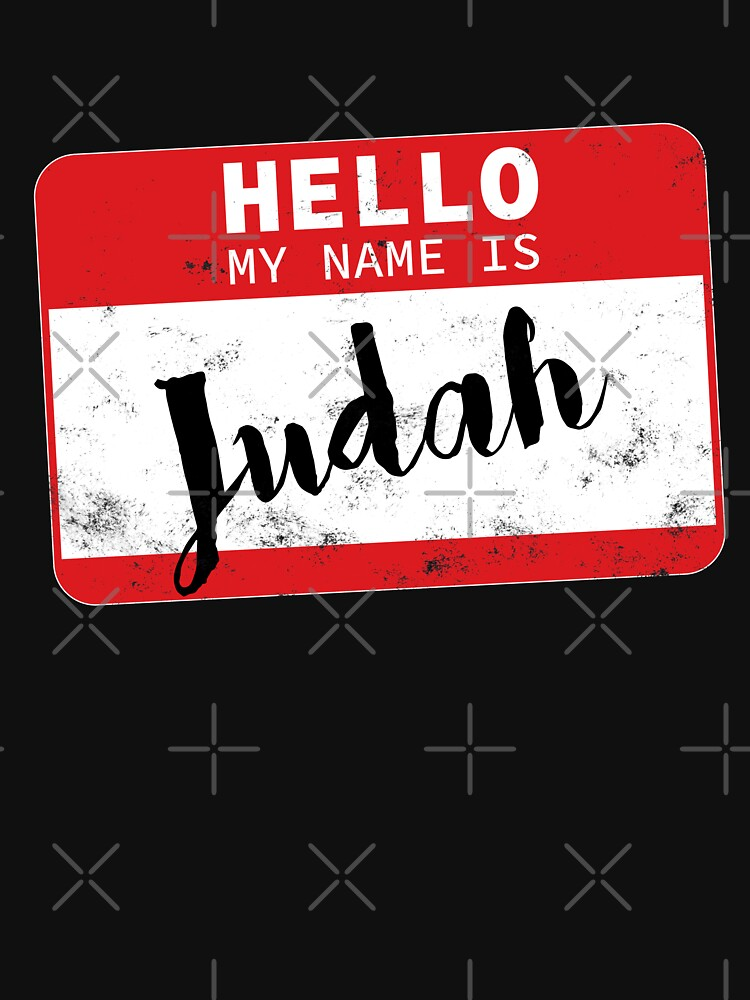 Hello My Name Is Judah Name Tag by efomylod