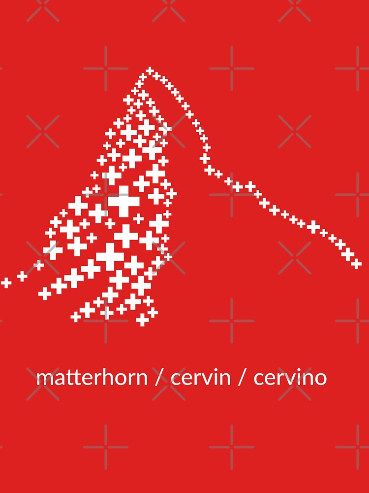"""""""Matterhorn / Cervin / Cervino"""" by chrüzness, the ultimate swissness design by chruezness"""