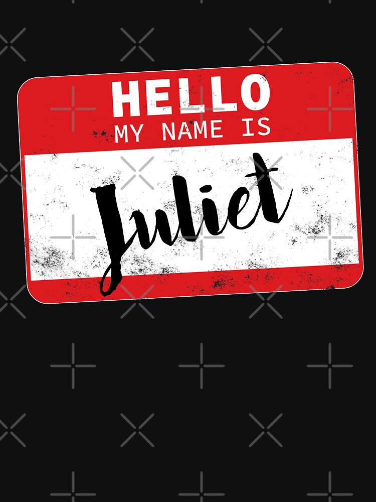 Hello My Name Is Juliet Name Tag by efomylod