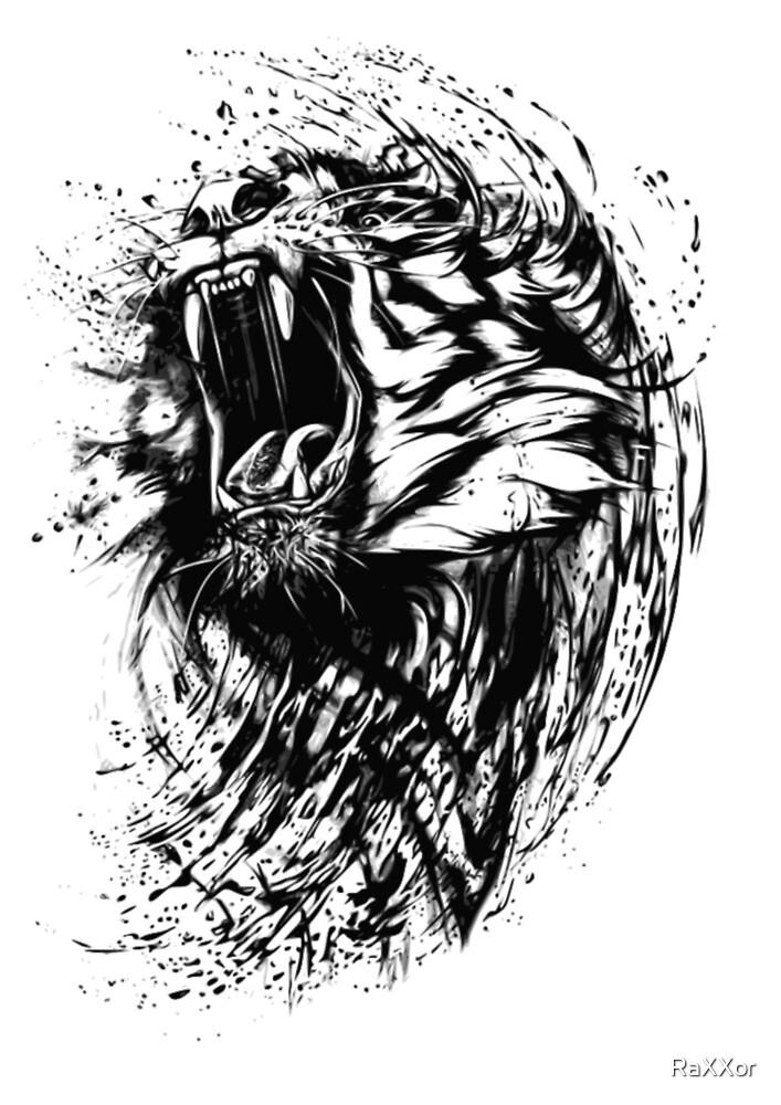 T-shirt Tiger by RaXXor