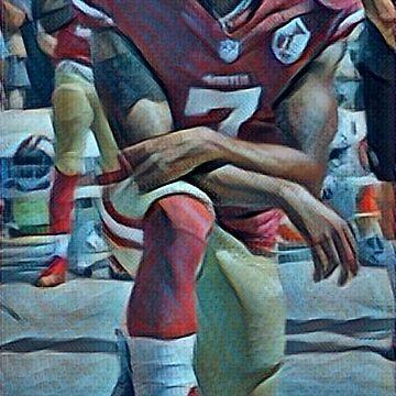Colin Kaepernick Kneeling by prouddesigns