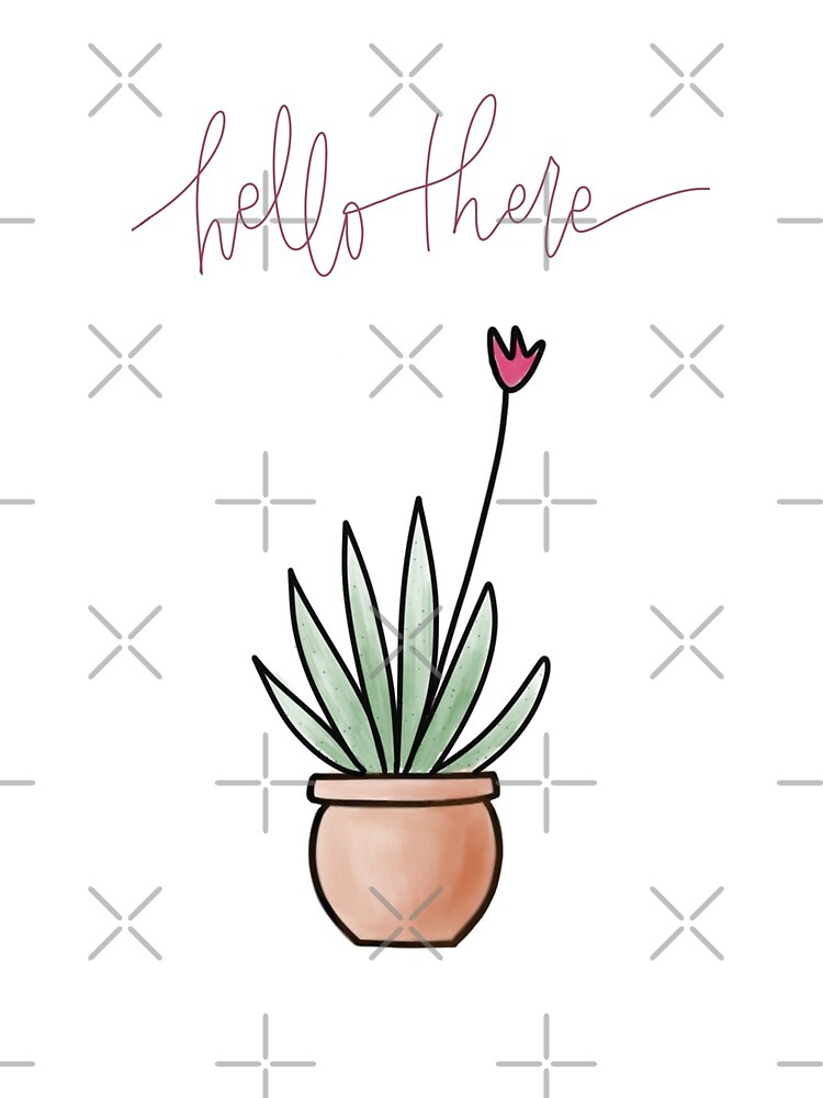 Hello There Cactus by erinslettering