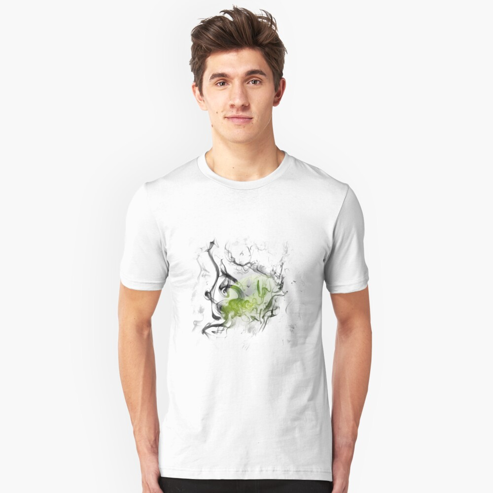 The smoking apple Unisex T-Shirt Front