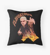 Guy Fieri Flavortown Throw Pillow