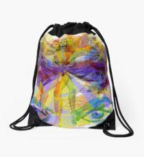 Dance of the Rainbow Drawstring Bag