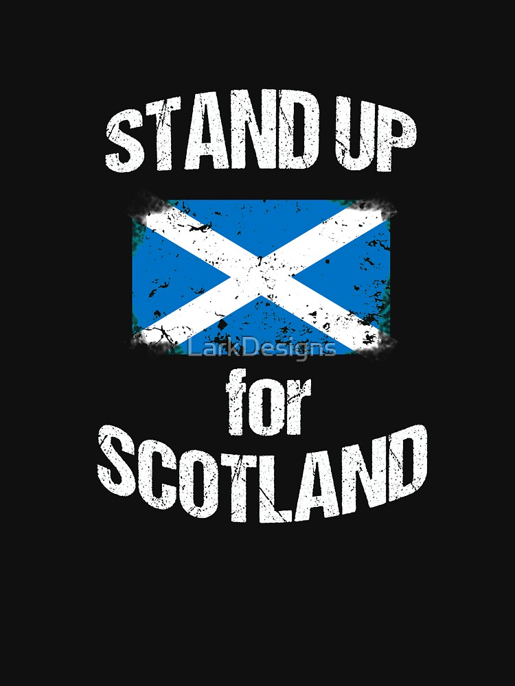 Stand Up for Scotland Scottish Flag Distressed by LarkDesigns
