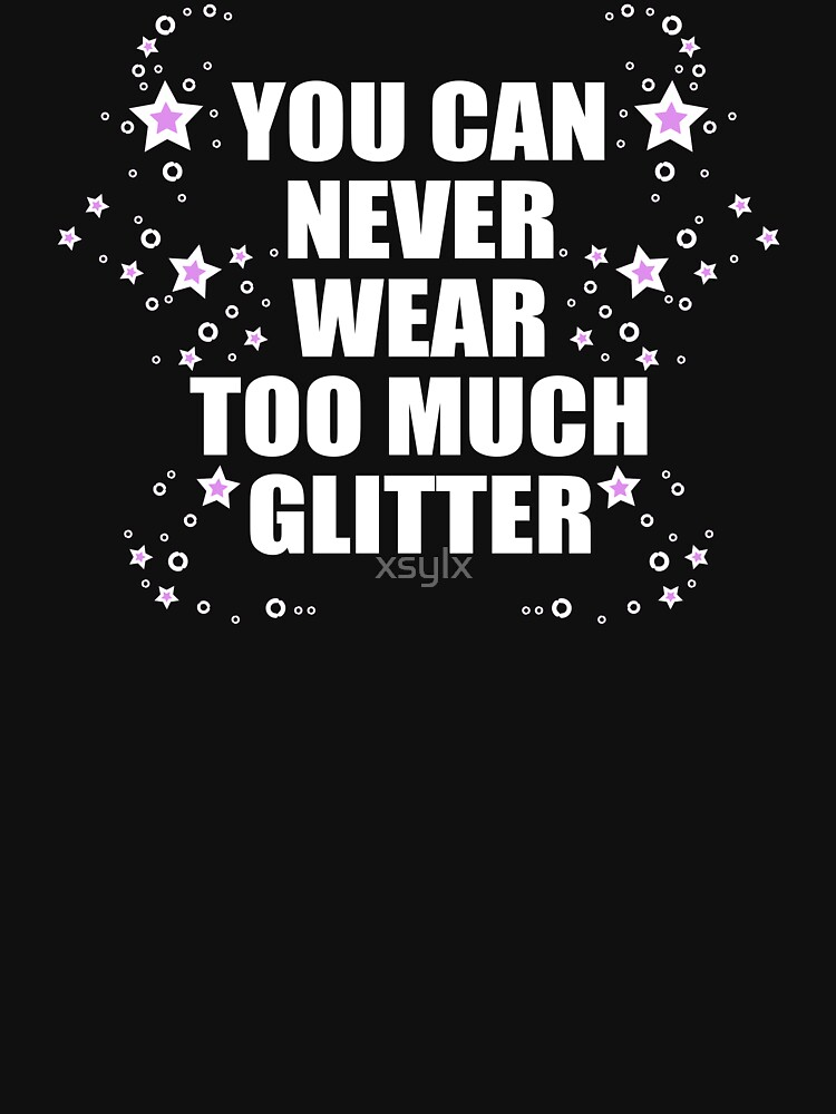 glitter quote with gimmer stars graphic by xsylx
