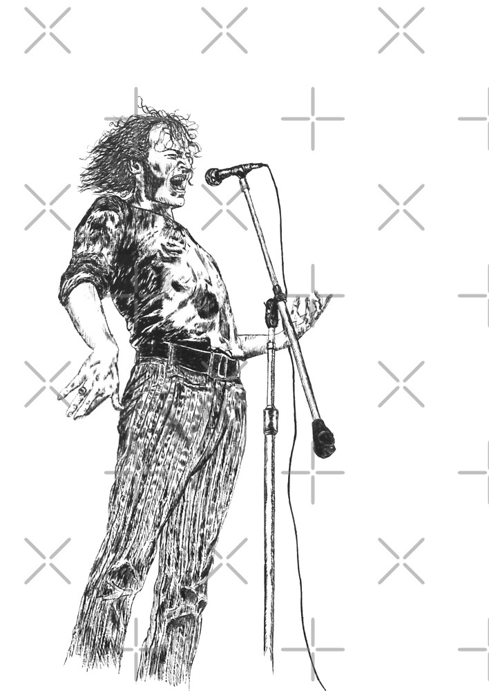 Joe Cocker Original Hand Drawn Ink Artwork by HamiltonArt