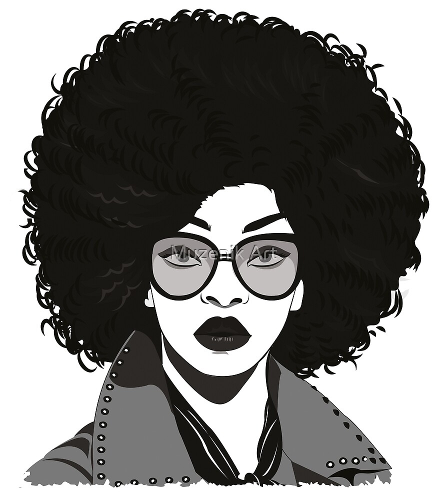 Afro girl by Banas Art