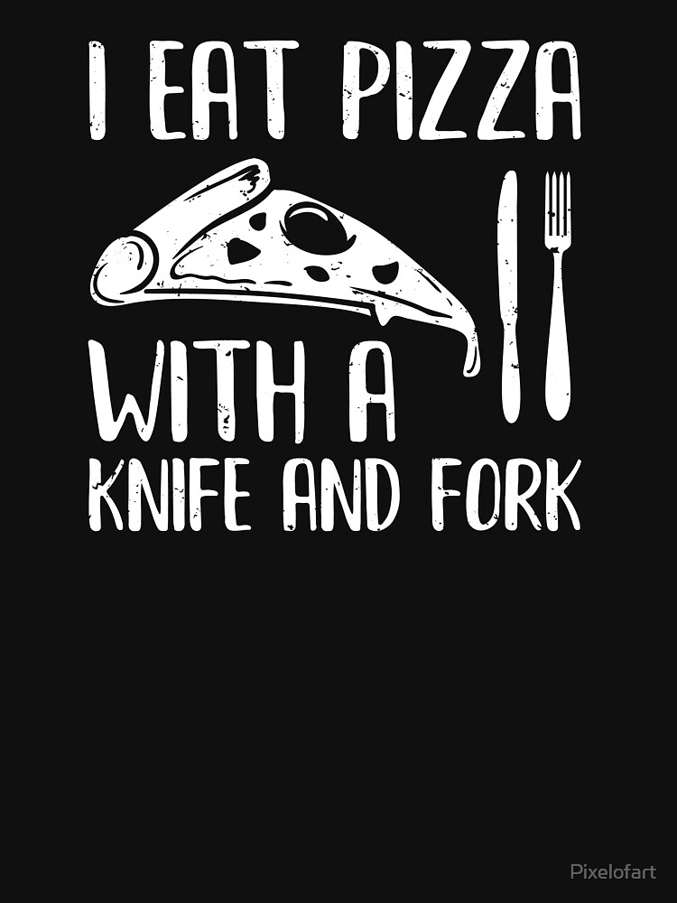 Pizza Knife and Fork by Pixelofart