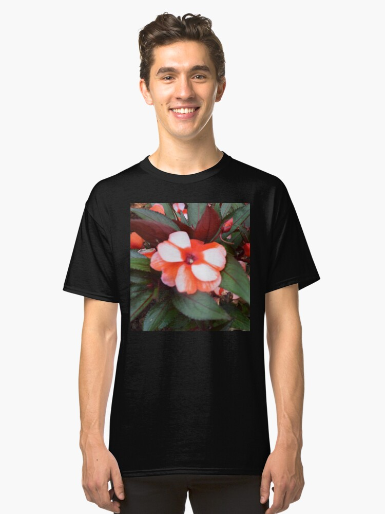 Scarlet Blossoms in Summer Classic T-Shirt Front