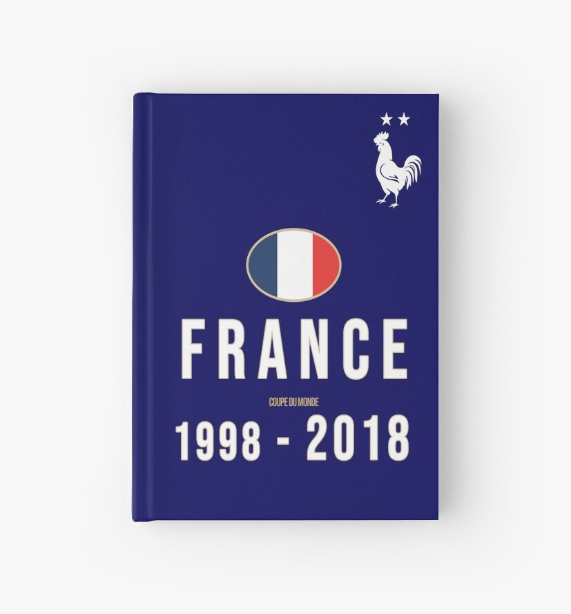 Hardcover World Champion 2018 - White by Lolamaxstore