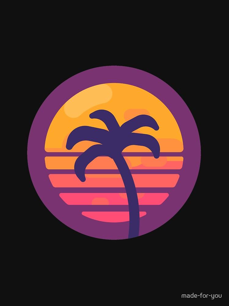 Miami Retro Palm Tree - Retrowave by made-for-you