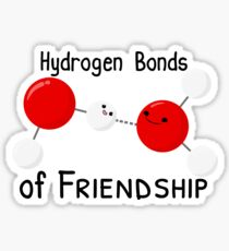 Hydrogen Bonds of Friendship Sticker