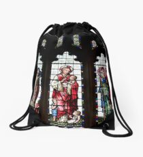 Stained Glass Window Photography 0004 Drawstring Bag