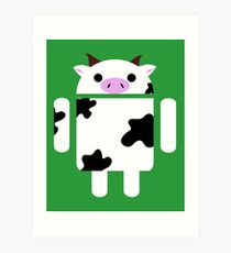 Droidarmy: Who let the cows out? Art Print
