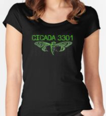 Cicada 3301 Women's Fitted Scoop T-Shirt