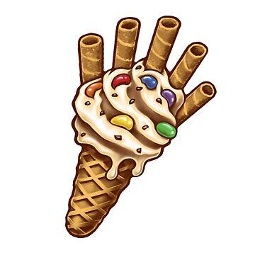 Infinity Ice Cream T-Shirt by HeyZReD