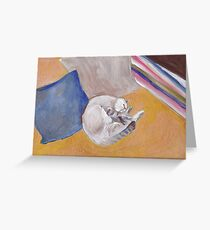 Golden kitty Greeting Card