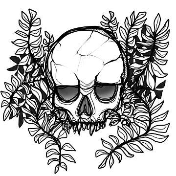 SKULL (black&white version) by varjopihlaja