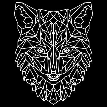Wolf Fox Dog Geometric as Geometric by FrediWicht