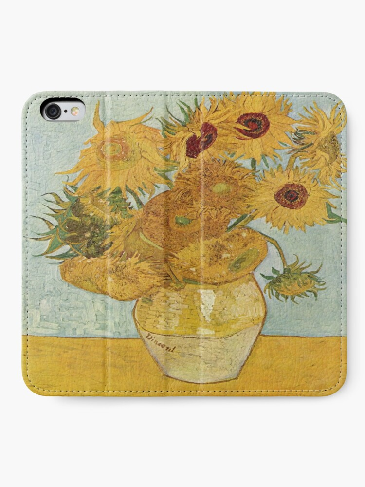 Alternate view of Vincent van Gogh's Sunflowers iPhone Wallet