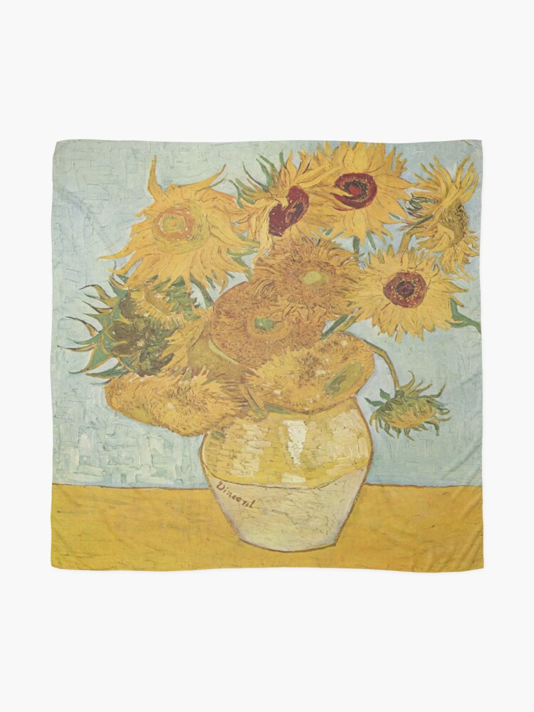 Alternate view of Vincent van Gogh's Sunflowers Scarf