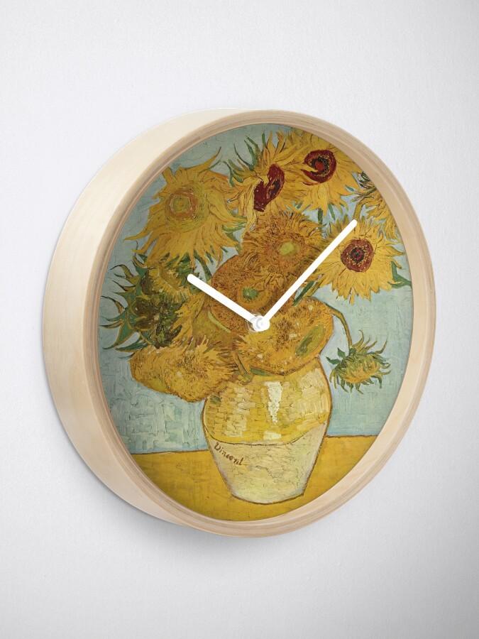 Alternate view of Vincent van Gogh's Sunflowers Clock