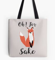Funny Hilarious Sarcasm Pun Fox T Shirt Fox Lover Tote Bag