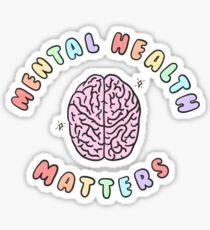Questions de santé mentale Sticker