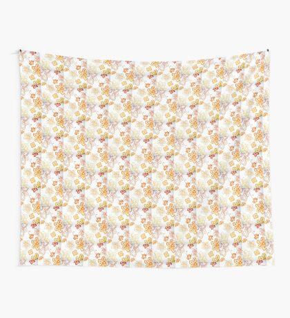Orange Flowers Wall Tapestry