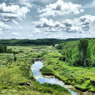 saskatchewan highway view by mistressotdark