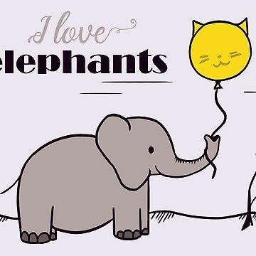 I love elephants by amedeea